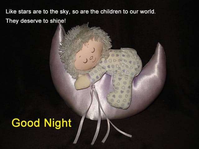Beautiful Good Night Images of Baby
