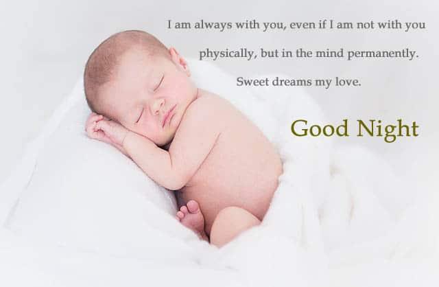 Good Night Images of Baby sleeping