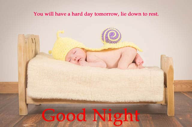 Cute Good Night Images of Baby