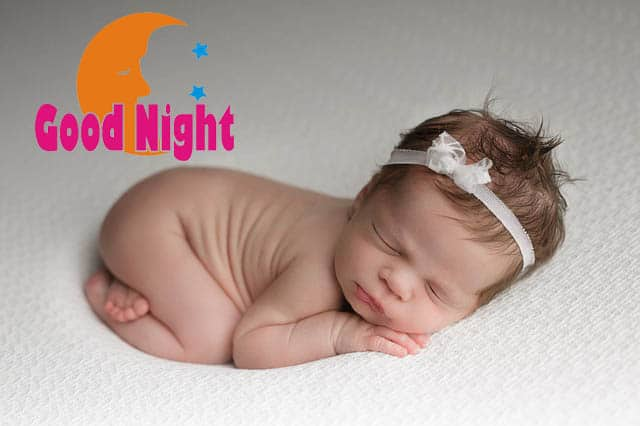 good night images of baby girl