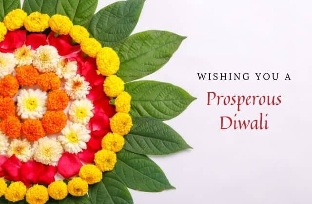 happy deepavali greeting card