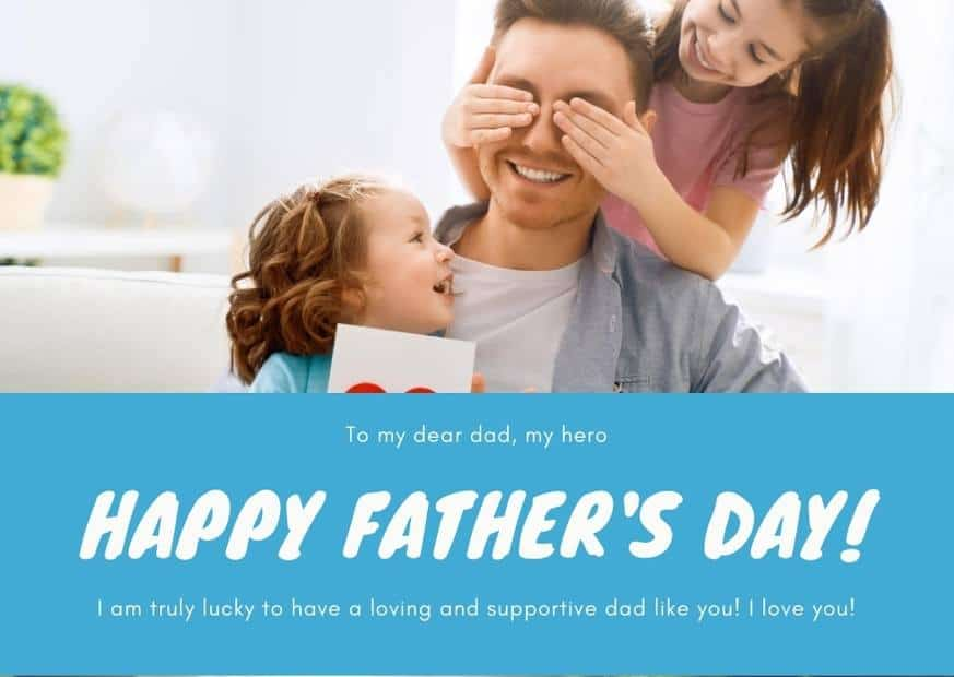 Fathers day wishing card