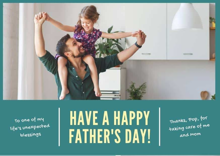 Wish you happy fathers day